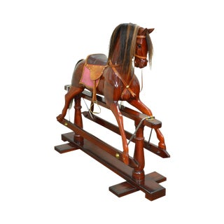 Solid Mahogany 19th Century Style Victorian Rocking Horse