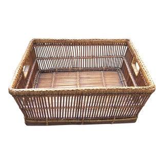 Wicker Basket Organizer Tray