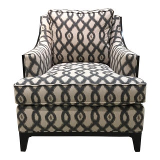 Exposed Wood Ikat Club Chair
