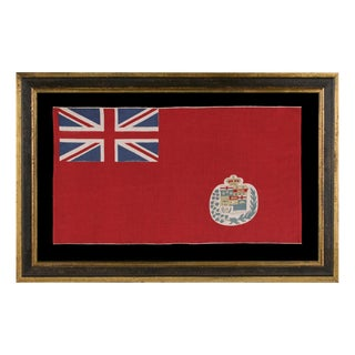 CANADIAN VERSION OF THE BRITISH RED ENSIGN, A PARADE FLAG ON ITS ORIGINAL STAFF, 1873-1905