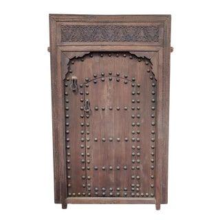 Vintage Moroccan Wood Door