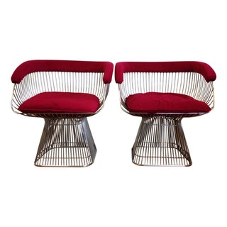 vintage warren platner style chairs a pair