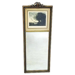 Gilt & Painted Small Trumeau Mirror
