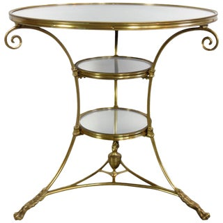 Mirrored Brass Bistro Table From Bruges, Belgium Circa 1970