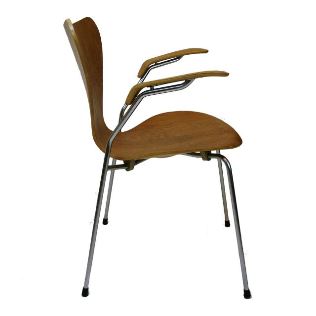 Three Arne Jacobsen Series Seven-Arm Chairs for Fritz Hansen - Image 2 of 6