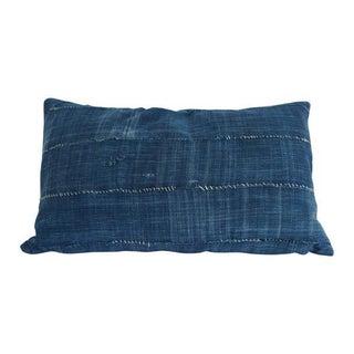 Vintage African Indigo Solid Lumbar Pillow