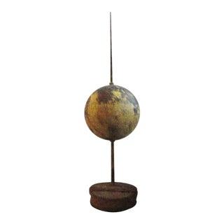 Rare 19th Century Large Original Painted Lightening Rod on Stand