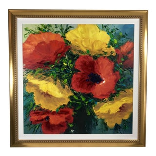 Original Christian Nesvadba Poppy Painting