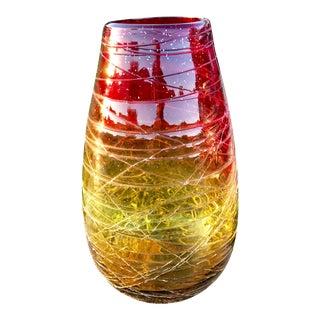 Mid-Century Modern Hand Blown Glass Vase