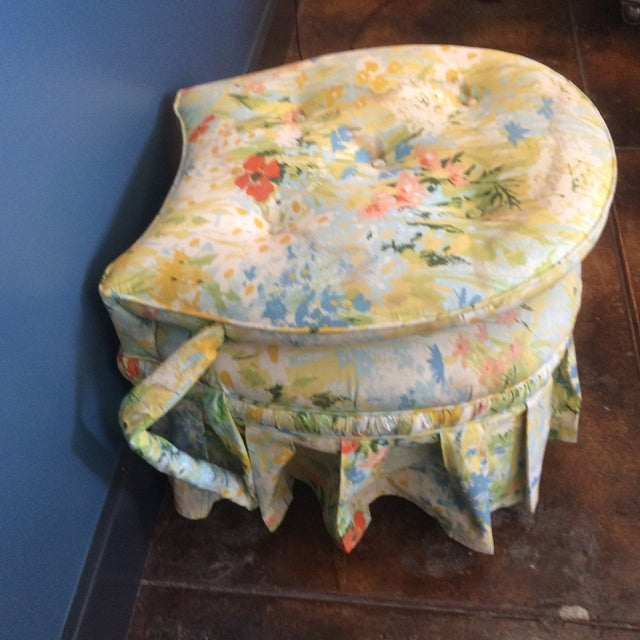 Vintage Floral Folding Chair - Image 6 of 9