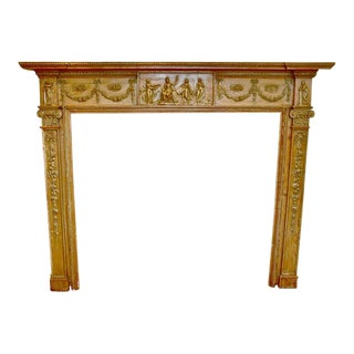 Period Georgian Pine Mantel, 18th Century, Irish or Philadelphia