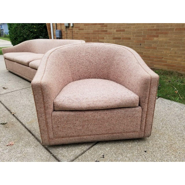 Larsen Furniture Jack Lenor Larsen Low Sofa and Swivel Lounge Chair - A Pair - Image 7 of 11
