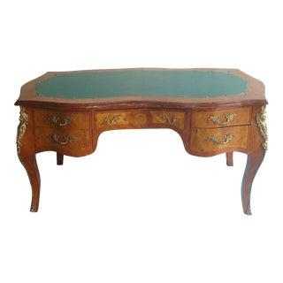 French Ormulu Leather Top Desk