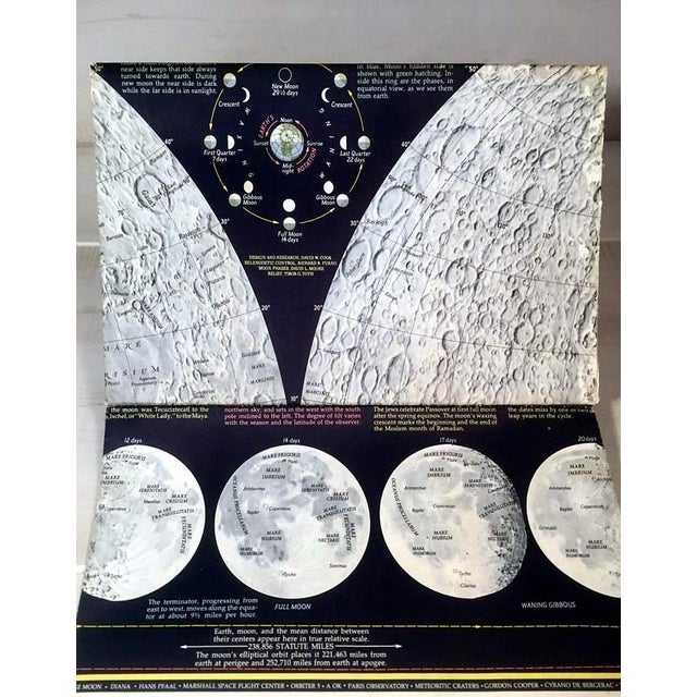 """1969 National Geographic """"The Earth's Moon"""" Map - Image 3 of 8"""