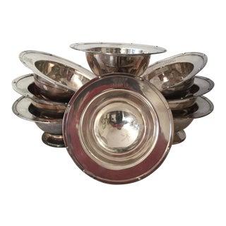 Meriden Britannia Silver Tidbit Bowls - Set of 8