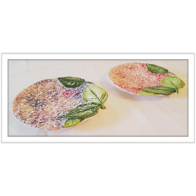 Isabella De Borchgrove Italian Flower Plates - A Pair - Image 8 of 10