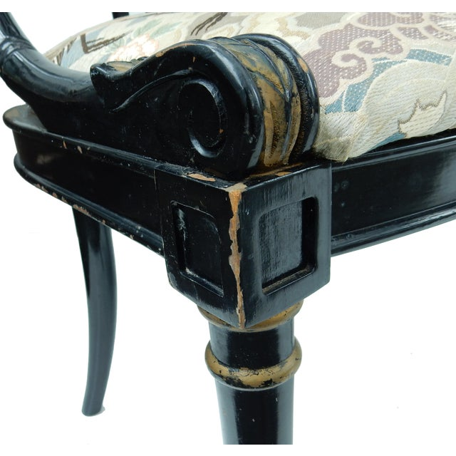 Hollywood Regency Black & Gold Swan Chairs - A Pair - Image 8 of 10