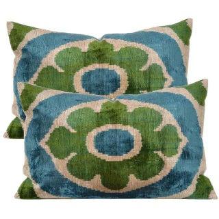 Belgian Silk Velvet Accent Pillows - A Pair