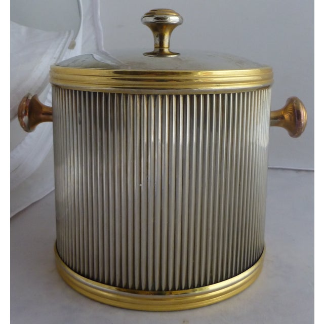 Image of Vintage Brass & Chrome Ice Bucket