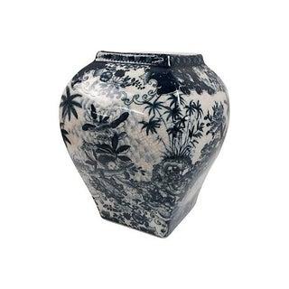 Handpainted Blue & White Vase