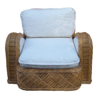 Jay Spectre Rattan Steamer Lounge Chair