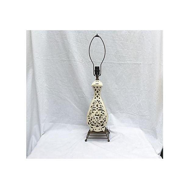 Ivory Sculptured Vintage Lamp - Image 2 of 5