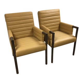 Mid-Century Wood Arm Chairs - A Pair