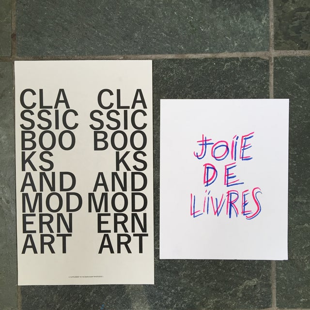 """Joie De Livres"" Modern Print - Image 5 of 5"