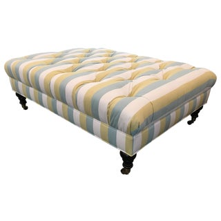 Striped Tufted Ottoman