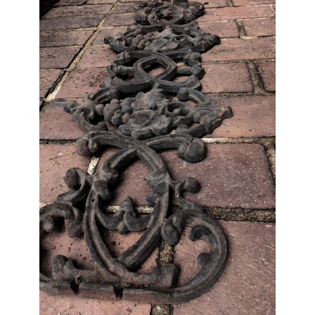 Image of Antique Rococo Vineyard Cast Iron Scrolling Wall Accent, Architectural Salvage
