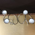 Image of Modern Chrome Loop Tea Light Candle Holders