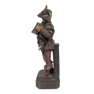 French Polychrome Terracotta Musketeer Figurine