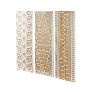 Selamat Designs Ohana Hardwood Panels- Set of 3