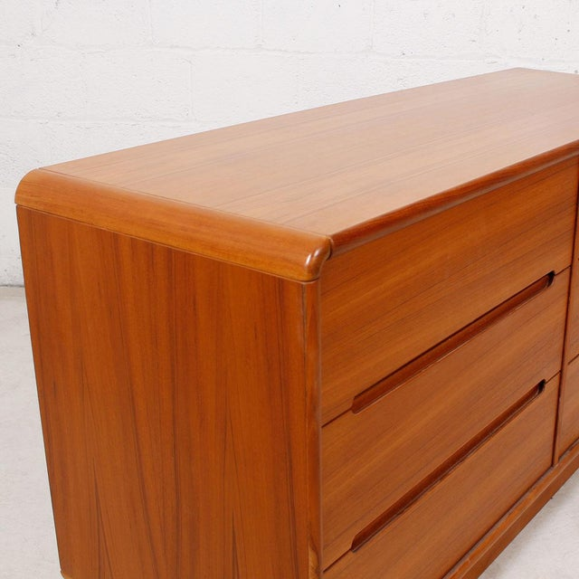 Teak Compact Dresser with Six Drawers - Image 6 of 6