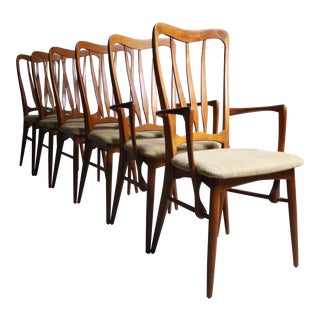 Koefoeds Hornslet Danish Modern Ingrid Chairs- Set of 6