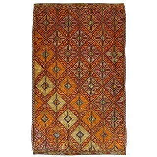 Vintage Cicim Turkish Flatweave Kilim - 5'9 x 9'7