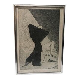 Mid-Century Modern Intaglio Print