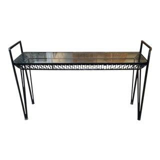 Vintage Iron Salterini Ribbon Console Table