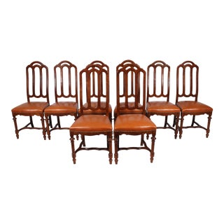 French Walnut Dining Chairs - Set of 8