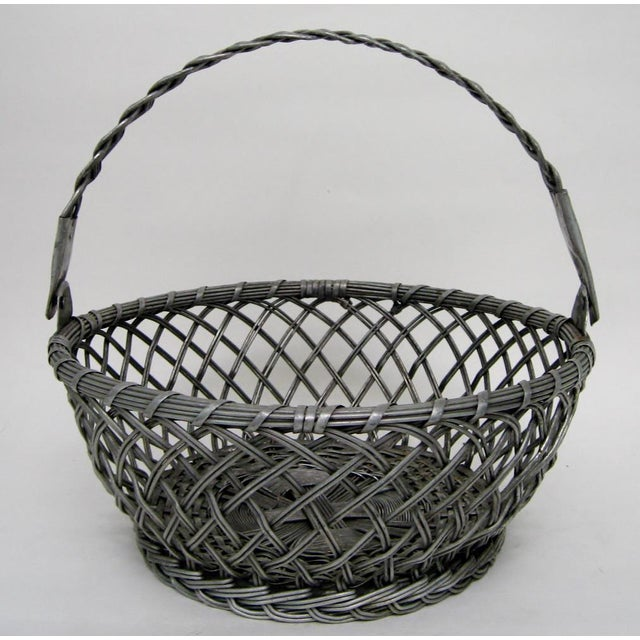 Vintage Tin Basket - Image 3 of 8