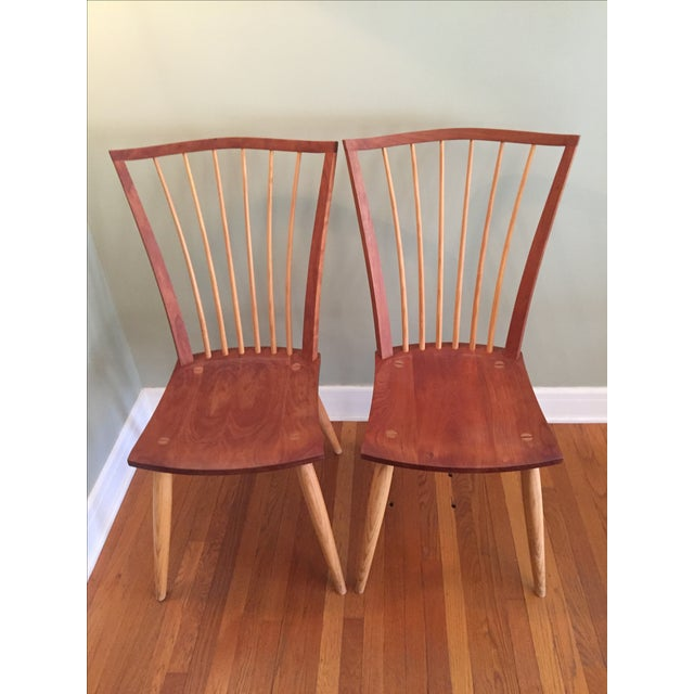 Thomas Moser Catena Arm Chairs - A Pair - Image 2 of 5