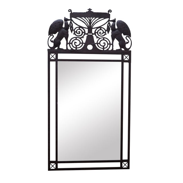 Image of Medieval Gothic Custom Iron Frame Wall Mirror