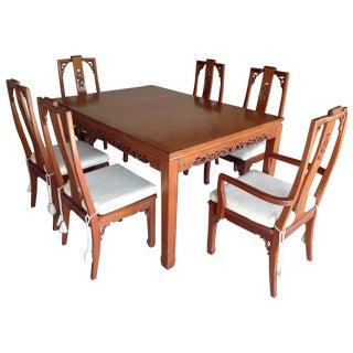 Mid-Century Style Asian Teak Dining Set