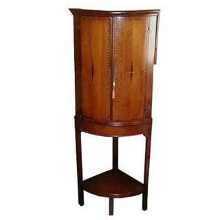 Antique Georgian Inlaid Corner Cabinet