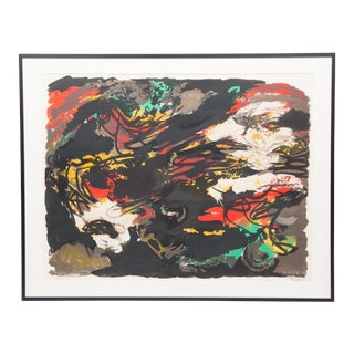 "Signed Karel Appel Lithograph ""Untilted Figures"""