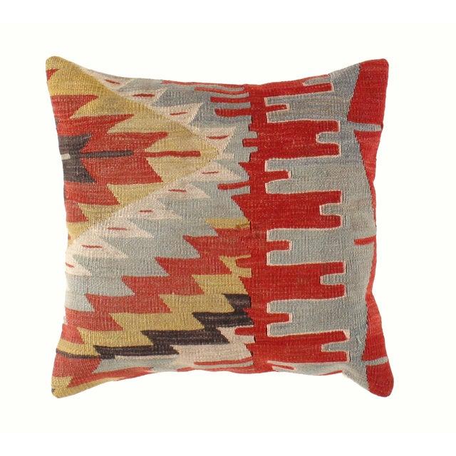 Vintage Red Kilim Pillow - Image 2 of 3