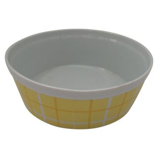 Vintage Yellow & White Plaid Tastesetter Bowl
