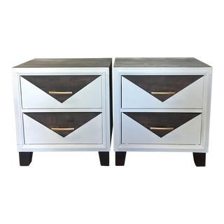 Mid -Century Modern Nightstands / Side Tables - a Pair