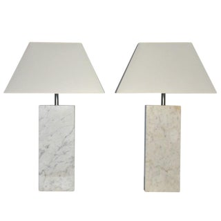 Pair of Marble Lamps by Nessen