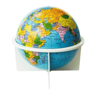 Vintage Tin Replogle World Globe